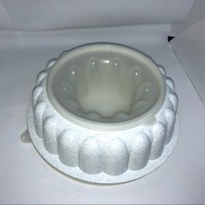 Tupperware Vintage White Jello Mold 3PCs